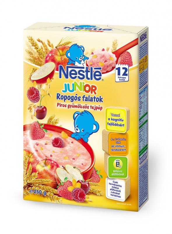 Nestlé Junior Piros ropogós csomagolástervezés