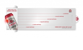 Borsodi Super Dry Infoshade tervezés