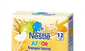 Nestlé Junior Sárga ropogós csomagolástervezés