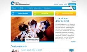 PMSZ weboldal tervezés